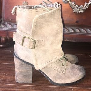 Fergie Distressed Leather Boots